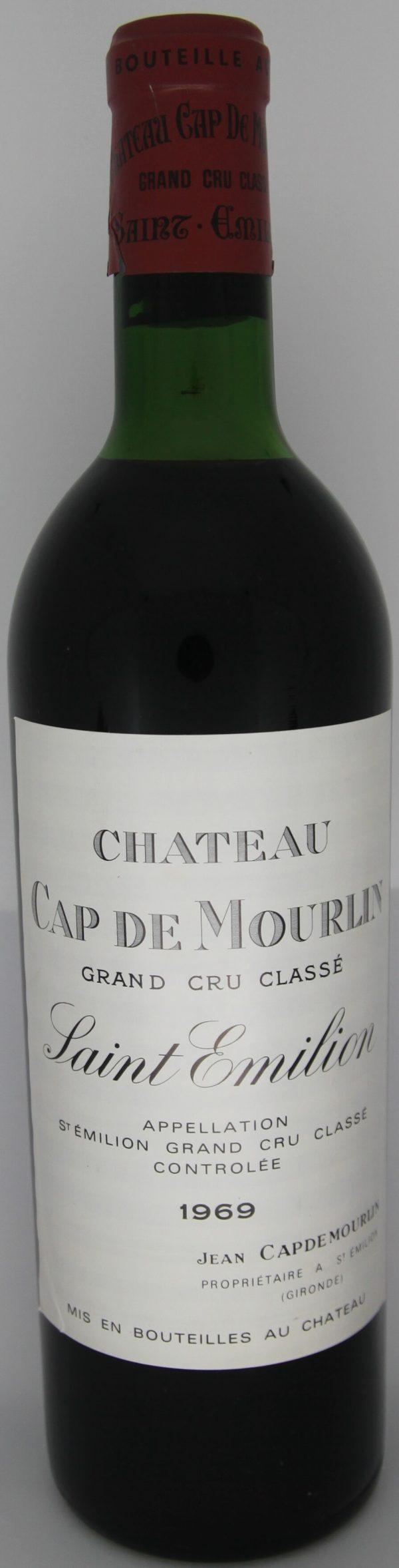 1969 Chateau Cap de Mourlin Saint-Emilion Grand Cru